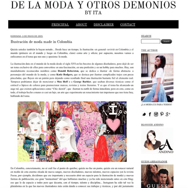 Ilustración de Moda, Made in Colombia